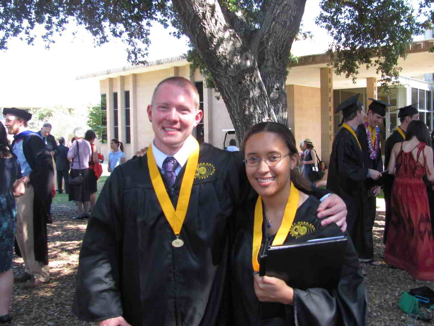 Chance and I at our graduation from Harvey Mudd College in May 2013.